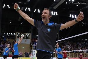 VCW Trainer klein Andi Vollmer tritt mit seinem Team im 1.Halbfinalspiel beim amtierenden Deutschen Meister in Dresden an Foto Detlef Gottwald