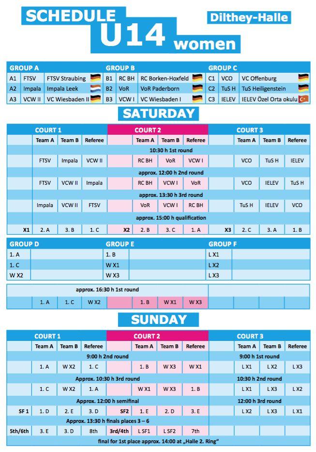 Schedule U14