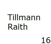 16 Tillmann Raith