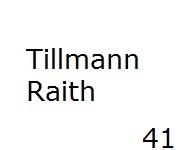 41 Tillmann Raith