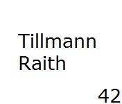 42 Tillmann Raith