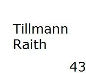 43 Tillmann Raith