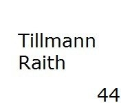 44 Tillmann Raith