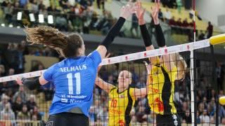In der vergangenen Bundesliga-Saison konnten sich Frauke Neuhaus (vorne) und Co. in beiden Partien gegen Suhl durchsetzen. Foto: Detlef Gottwald